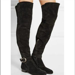GUCCI Dionysus Suede Over-The-Knee Boot Black NWOB